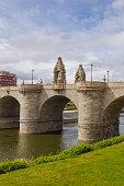 Bridge of Toledo over river Manzanares, Madrid, Spain