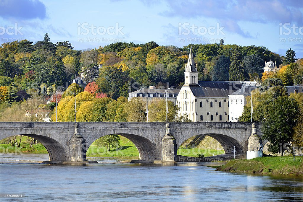Bridge of Wilson at Tours in France stock photo