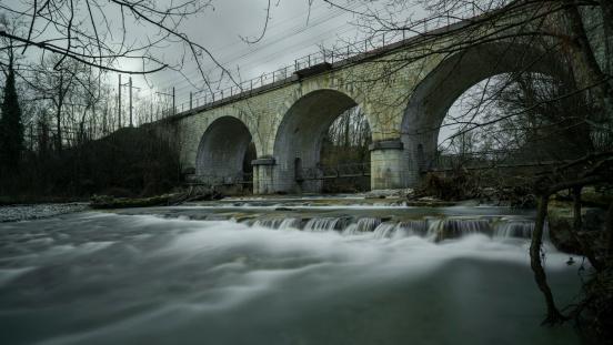 Bridge on a river
