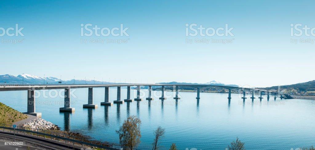 Bridge on Atlantic Road in Norway stock photo