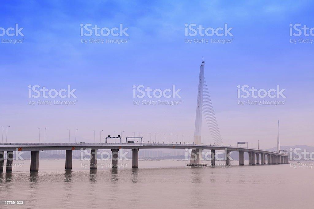 Bridge on  coastal stock photo