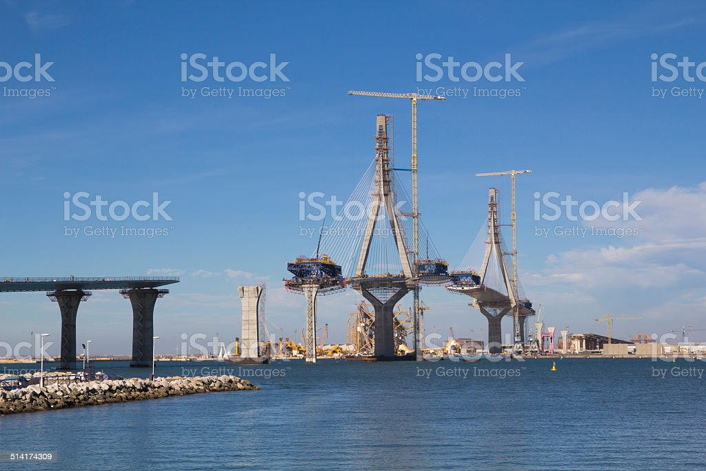 Bridge on construction stock photo