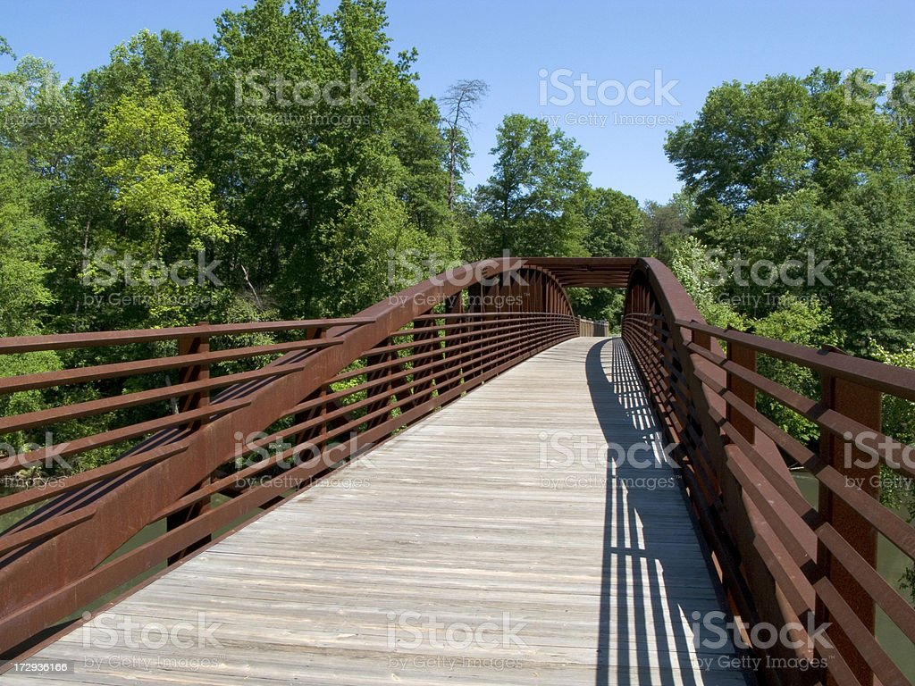 Bridge on Hiking  / Cycling Path royalty-free stock photo