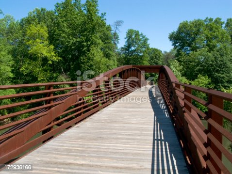 Shown here is a bridge on a trail used for hiking and cycling.See other related images here: