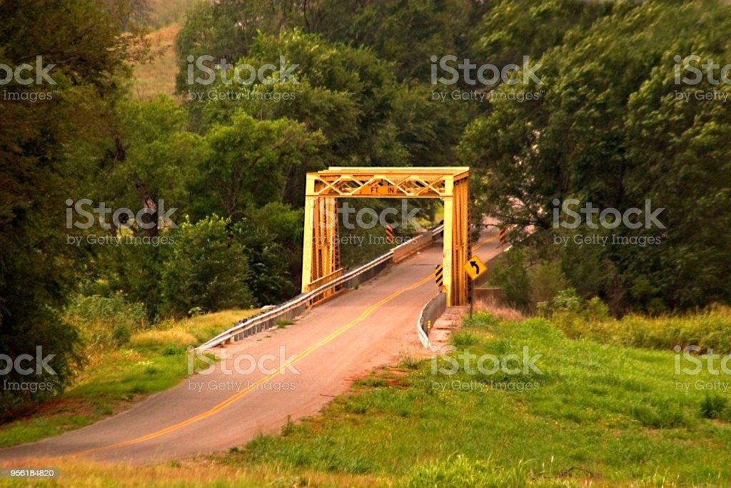 Bridge on Route 66 Oklahoma stock photo