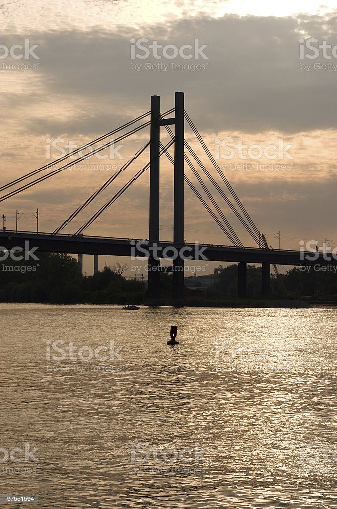 Pont au coucher du soleil photo libre de droits