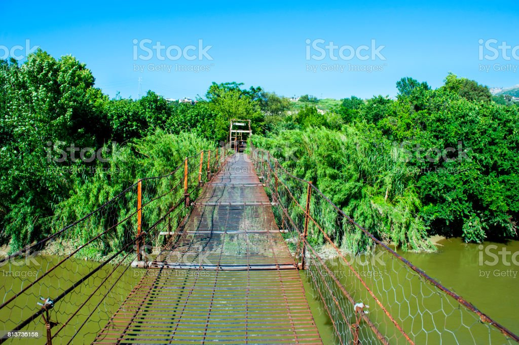 Bridge on The Orontes River stock photo