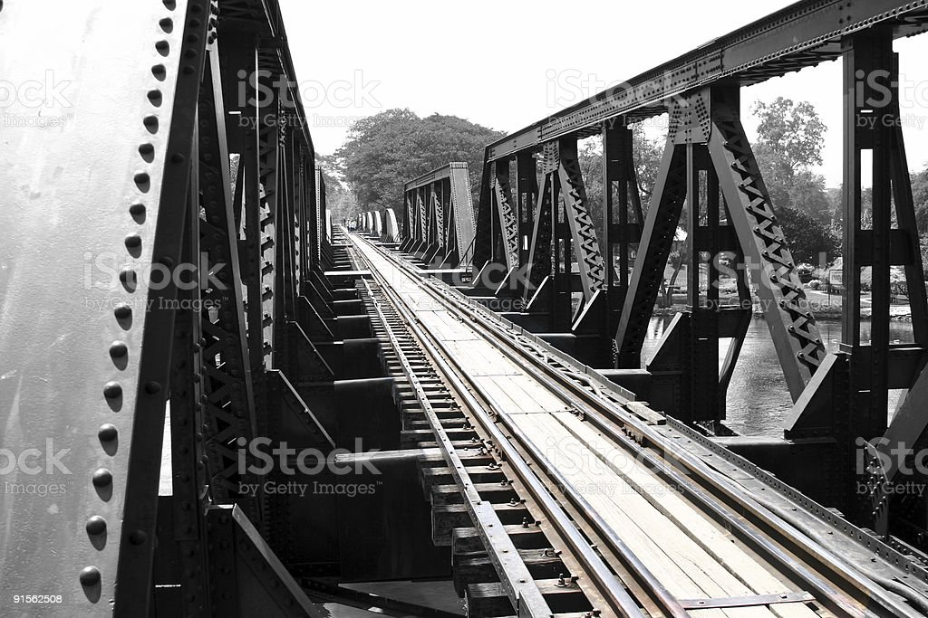 Bridge on the River Kwai stock photo