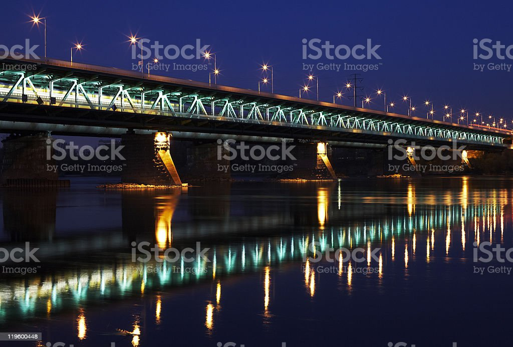 Bridge on Vistula stock photo