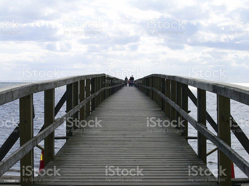 Bridge Out to Sea royalty-free stock photo