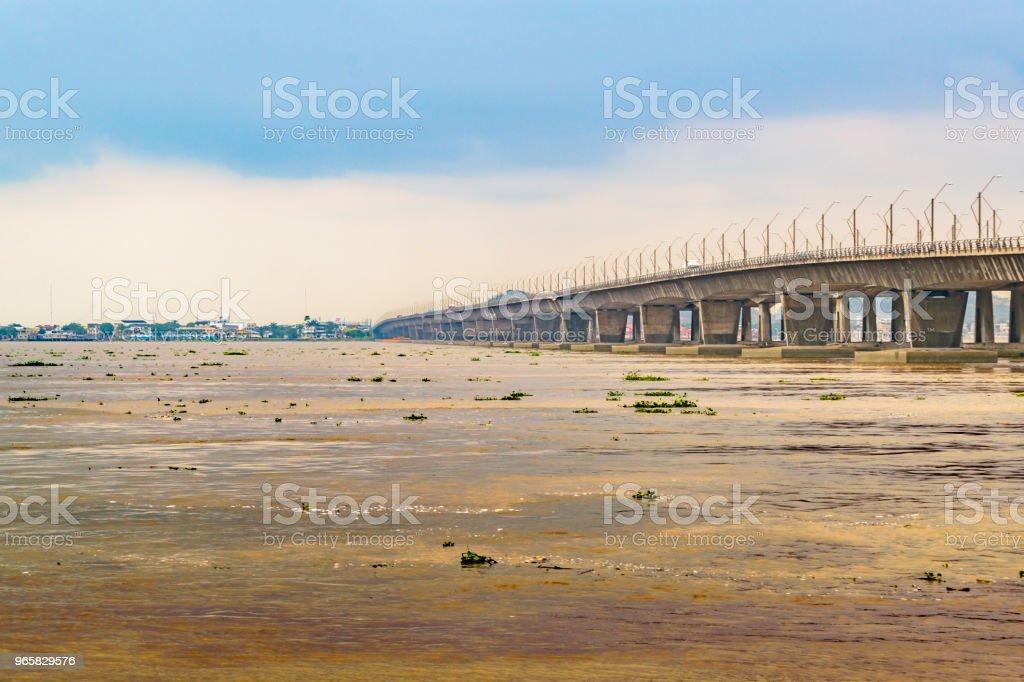 Brug Over de Babahayo rivier, Guayaquil, Ecuador - Royalty-free Binnenstad Stockfoto