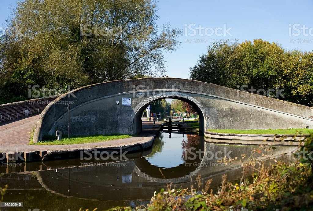 Bridge over Canal Junction stock photo