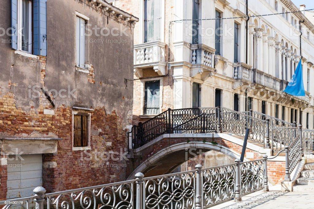 bridge over canal Rio de San severo in Venice royalty-free stock photo