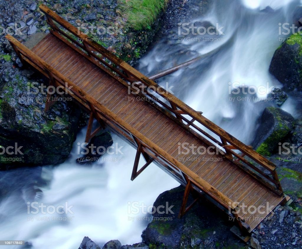 Bridge Over Elowah Falls stock photo