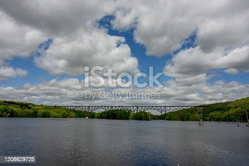Bridge Over High Water on the St. Croix River between Minnesota and Wisconsin