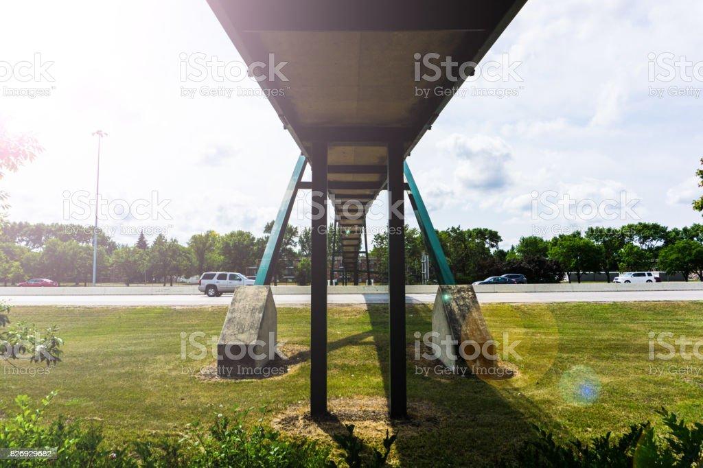 Bridge Over Interstate stock photo