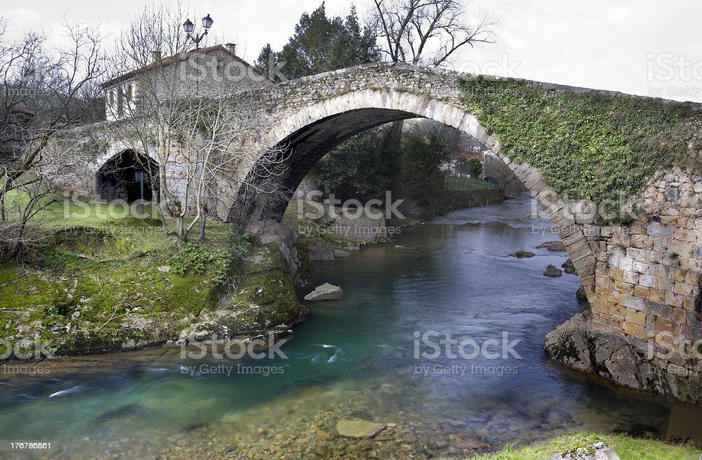 Bridge over Miera river royalty-free stock photo