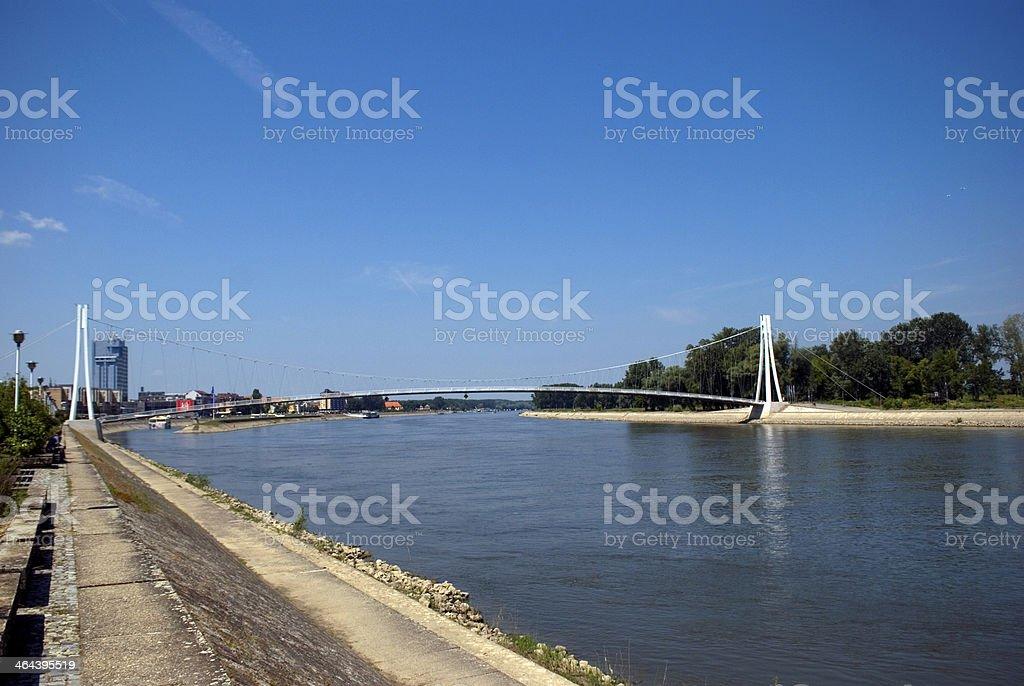 Bridge over River Drava, Osijek, Croatia royalty-free stock photo