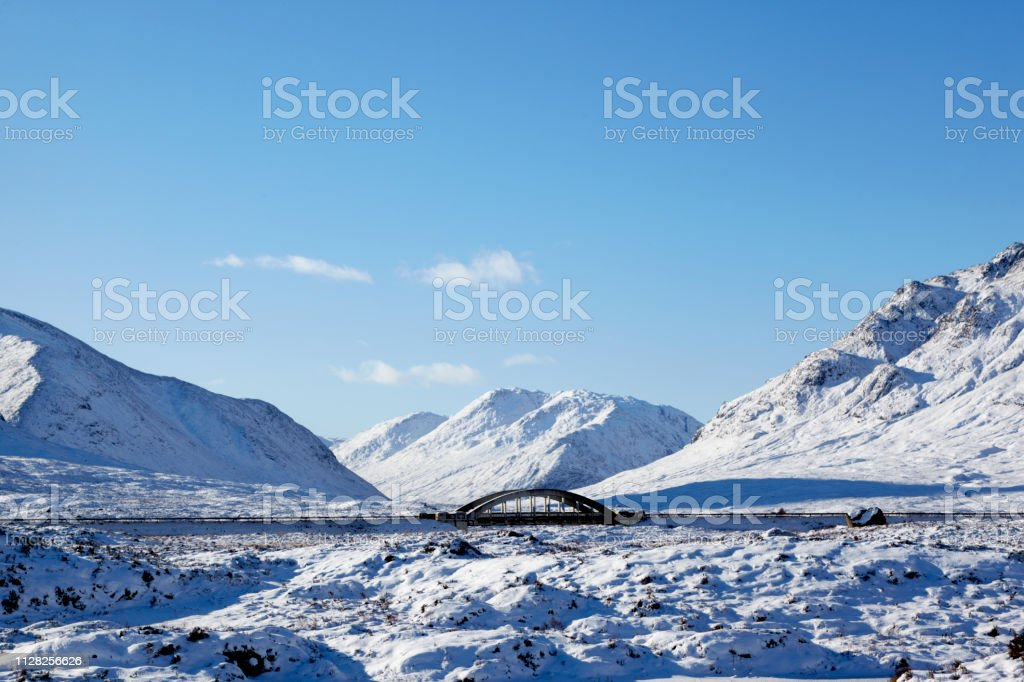 Bridge over River Etive, Scottish Highlands, Scotland, UK stock photo