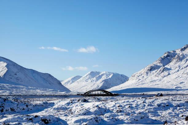 Bridge over River Etive, Scottish Highlands, Scotland, UK stock photo