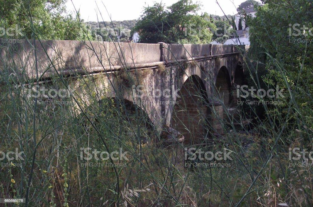 Bridge over River Nabao Lizenzfreies stock-foto