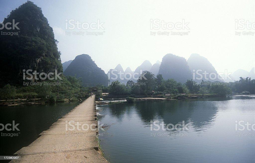 Bridge over river royalty-free stock photo