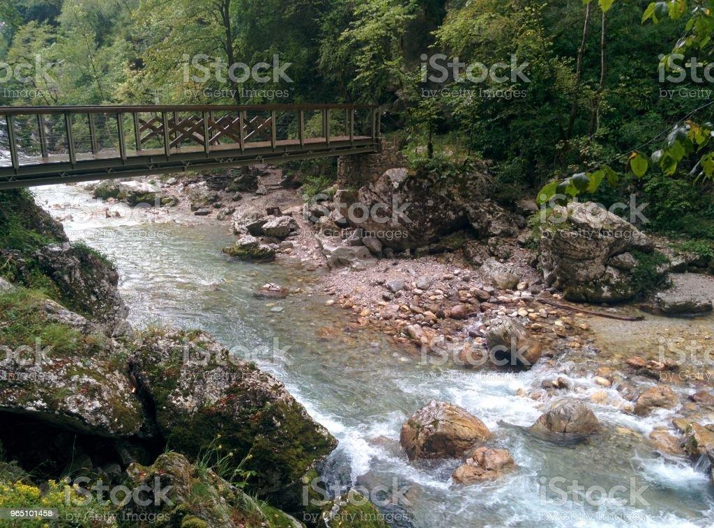 Bridge Over River zbiór zdjęć royalty-free