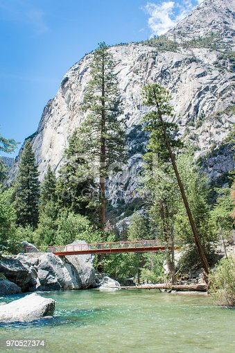 Bridge over South Fork Kings River, Kings Canyon National Park