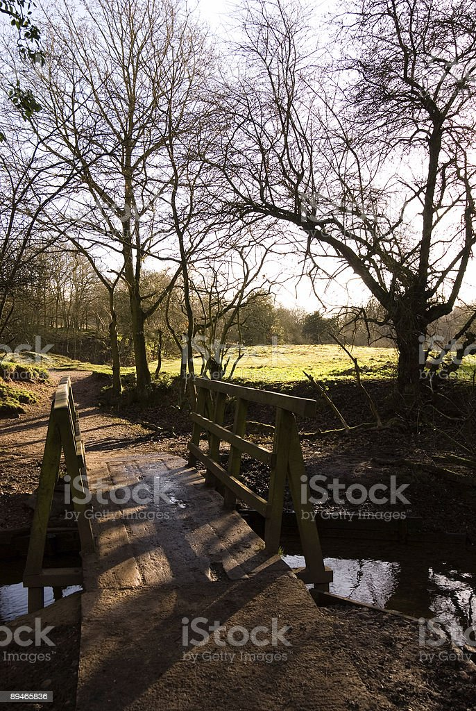 Bridge over stream royalty-free stock photo