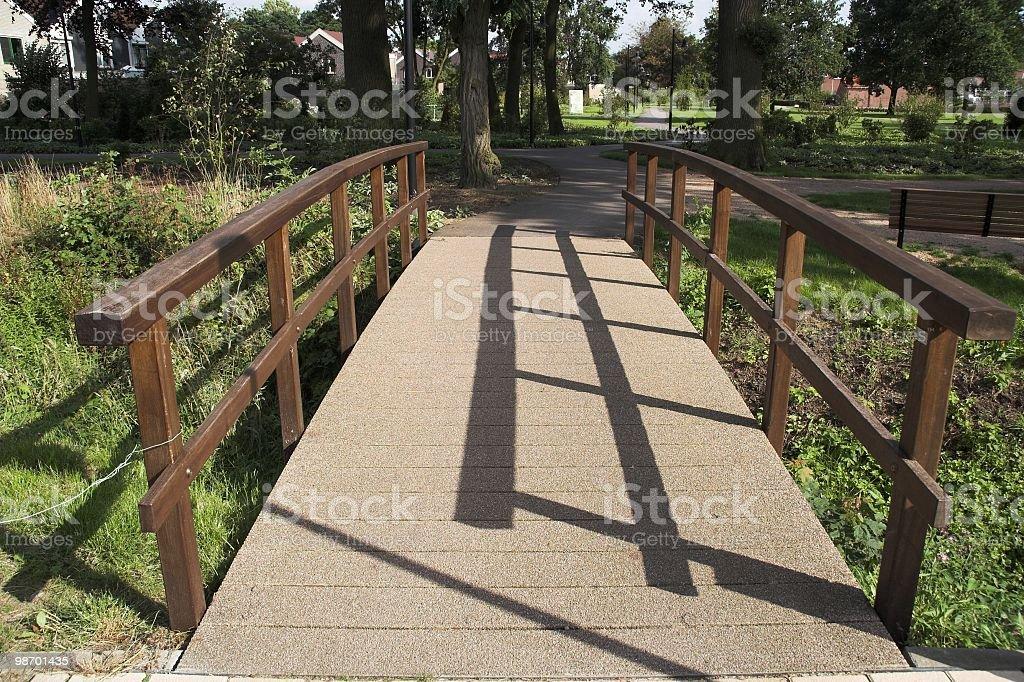 Bridge over stream royalty-free stock photo