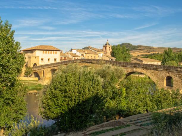 Bridge over the Arga River - Puente La Reina stock photo