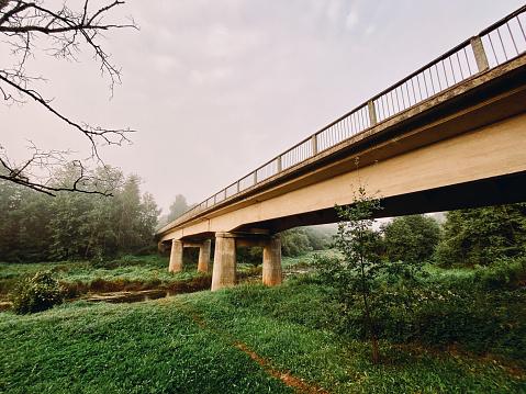 Bridge over the Barta River in Latvia