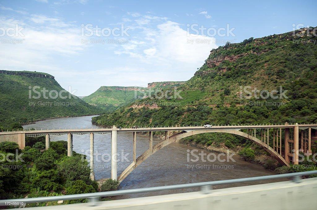 Bridge over the Blue Nile in Ethiopia royalty-free stock photo