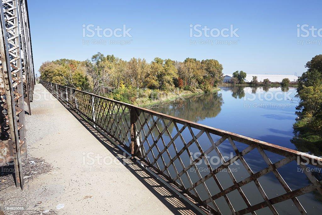 Bridge over the Calumet River in Hegewisch, Chicago royalty-free stock photo
