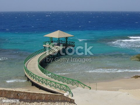 istock A bridge over the coral reef. Red Sea, Egypt. 959325078