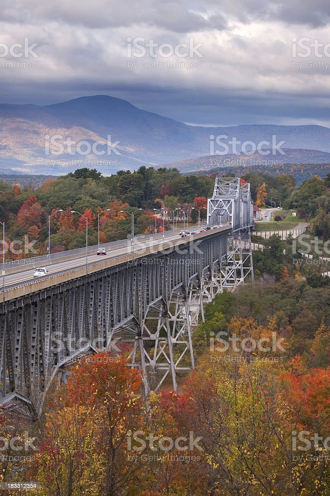Bridge Over the Hudson River stock photo