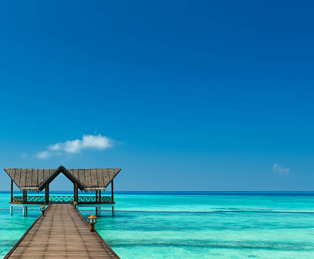 Brücke über den indischen Ozean stock photo