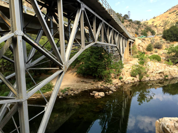 Bridge over the Kern stock photo
