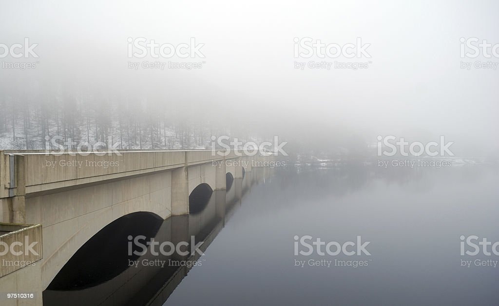 Bridge over the Ladybower Viaduct. Peak District royalty-free stock photo