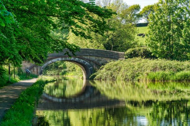 Eine Brücke über den Lancaster-Kanal in der Nähe von Lancaster. – Foto