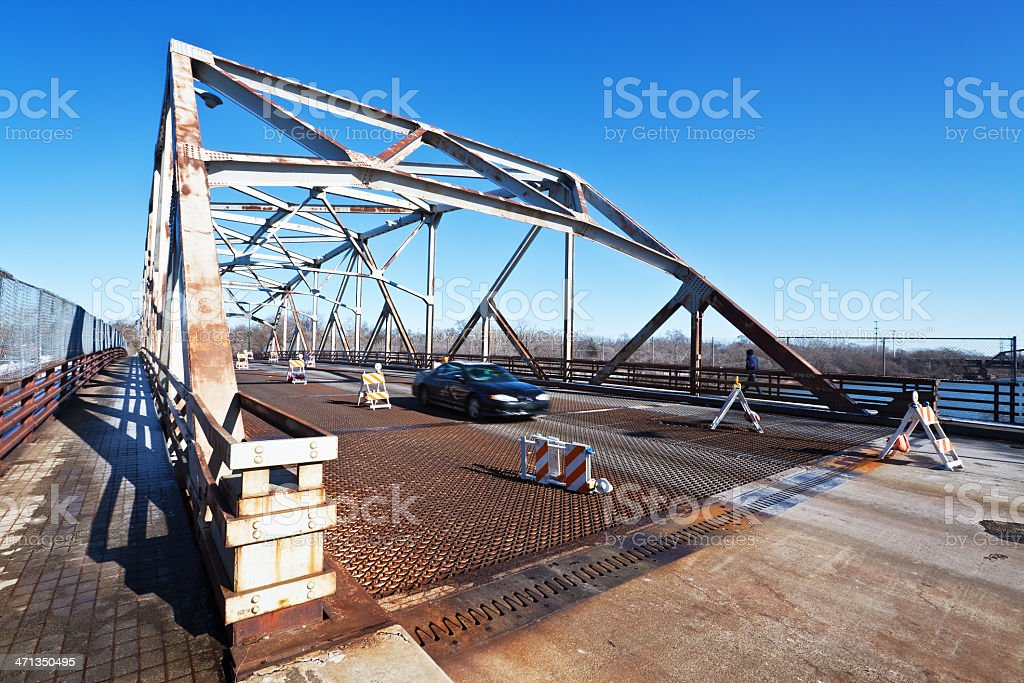 Bridge over the Little Calumet River in Riverdale, Chicago royalty-free stock photo