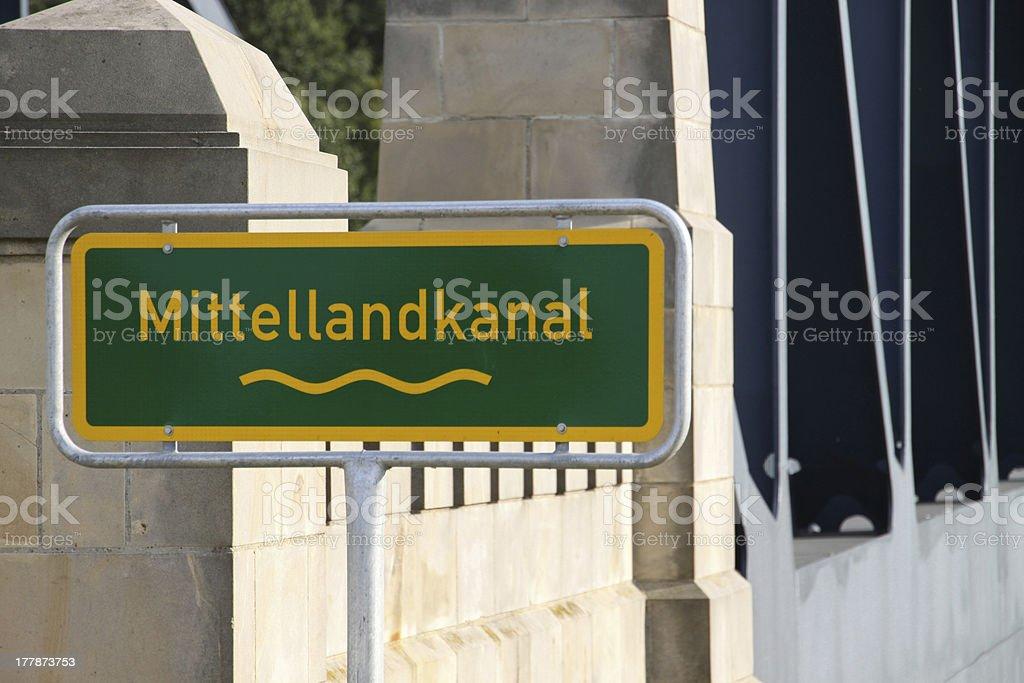 Bridge over the Mittelland Canal at Sachsenhagen royalty-free stock photo