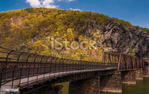 istock Bridge over the Potomac River in Harper's Ferry, West Virginia. 178976556