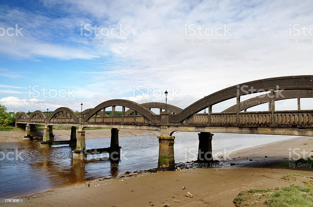 Bridge over the River Dee at Kirkcudbright royalty-free stock photo