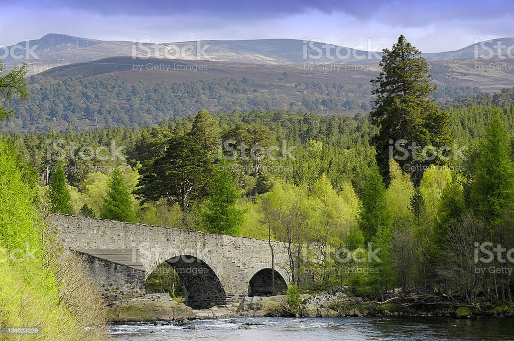 Bridge Over the River Dee royalty-free stock photo