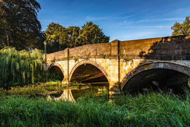 Bridge over the River Eye in Melton Mowbray stock photo