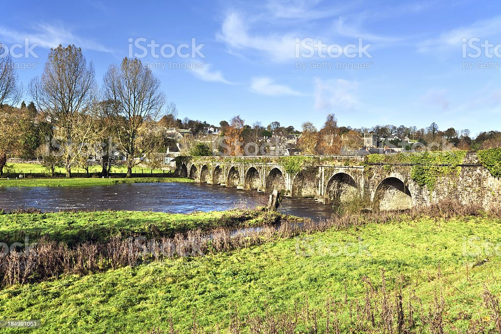Bridge over the River Nore at  Inistioge in Ireland royalty-free stock photo