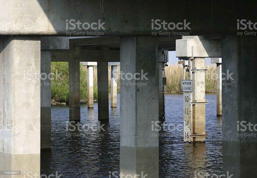 Bridge over the Saint John's River, Florida royalty-free stock photo