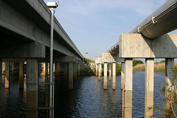 Bridge over the Saint John's River, Florida stock photo