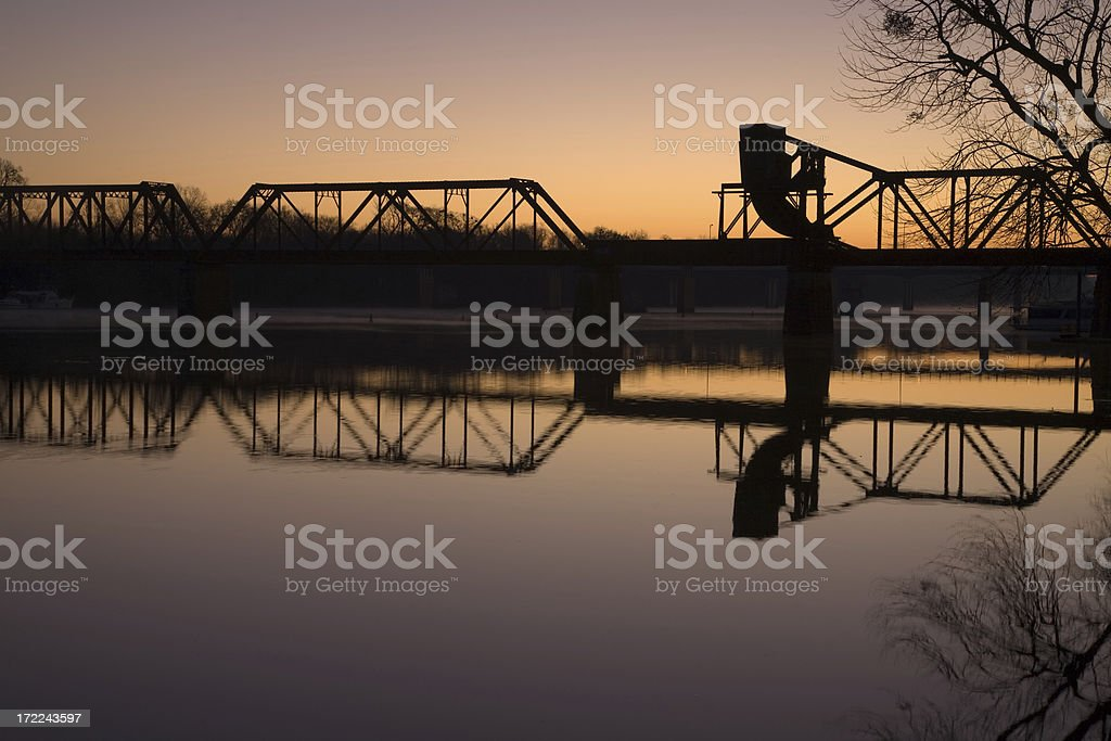 Bridge over the Savannah River stock photo